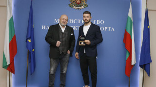 Министър Кралев награди Борис Георгиев за сребърния медал от големия шлем в Ташкент