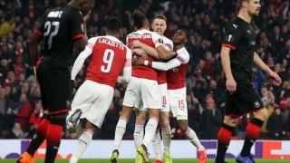 Арсенал - Рен 3:0, втори гол на Обамеянг!