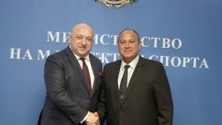 Министър Кралев се срещна с президента на Европейската билярд и снукър асоциация Максим Касис