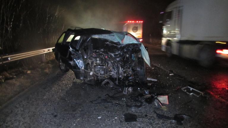 Катастрофа на пътя Русе-Бяла прати шофьор на ТИР в болница
