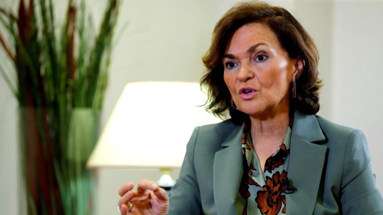 Вицепремиерът на Испания Кармен Калво е с положителен резултат за