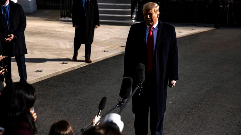 Тръмп не се чувства застрашен от отстраняване