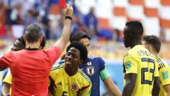 Смъртни заплахи за Карлос Санчес след червения му картон срещу Япония