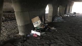 Разчистват боклуците под мостовете в София