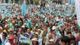 """Хиляди демонстранти в Тайван казват """"не"""" на Китай"""