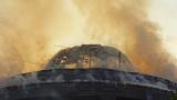 Огнеборци борят голям пожар в Благоевград