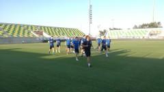 "Футболистите на Левски проведоха официална тренировка на ""АЕК Арена"" в Ларнака"