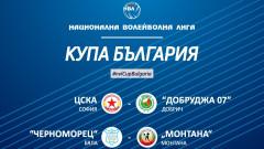 Жребий за четвъртфиналите за Купата на България по волейбол (мъже)