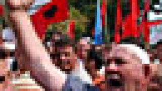 В Скопие албанци протестираха срещу дискриминацията