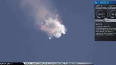 Ракета на SpaceX се разпадна след старта си от Кейп Канаверал