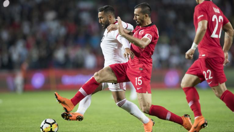 Турция се справи с 2:1 с участника на Мондиал 2018