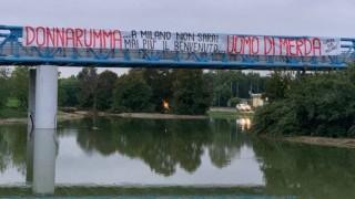 Феновете на Милан посрещнаха Донарума с обиден банер