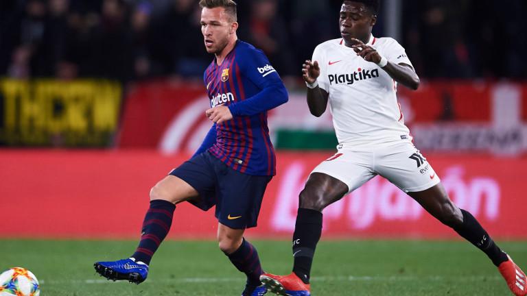 Севиля 0 : 0 Барселона 44′ И Севиля отговаря подобаващо!
