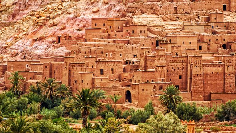 Миниатюрно средновековно градчев югозападната част на Мароко днес е едно