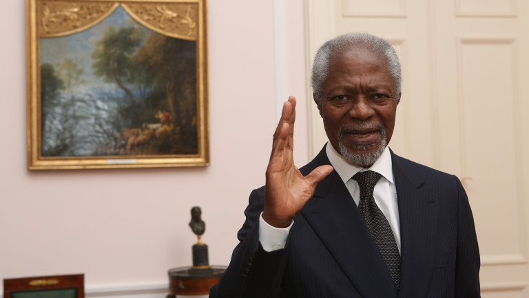 Почина бившият генерален секретар на ООН Кофи Анан, съобщиха от