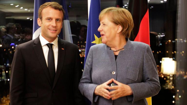 Меркел и Макрон си обещаха да водят ЕС след Брекзит