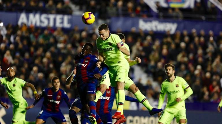 Двубоят между Барселона и Леванте определено е под въпрос. Каталунците