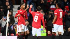 Колчестър удържа Юнайтед за едно полувреме, но след това Рашфорд се развихри