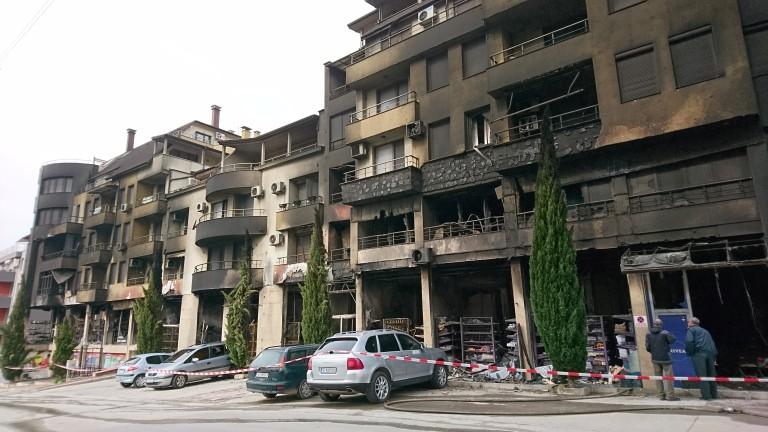 Спецкомисия установява щетите по изгорелия в Сандански блок