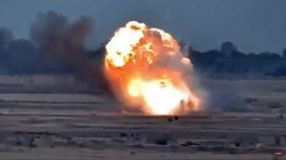 Армения показа клип от унищожаването на боен хеликоптер на Азербайджан