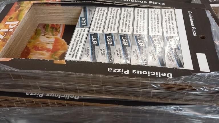 Митничари се натъкнаха на голямо количество цигари в кутии за пици