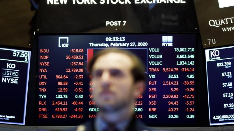 Сривът на борсата в САЩ продължава и днес. Индексът Dow