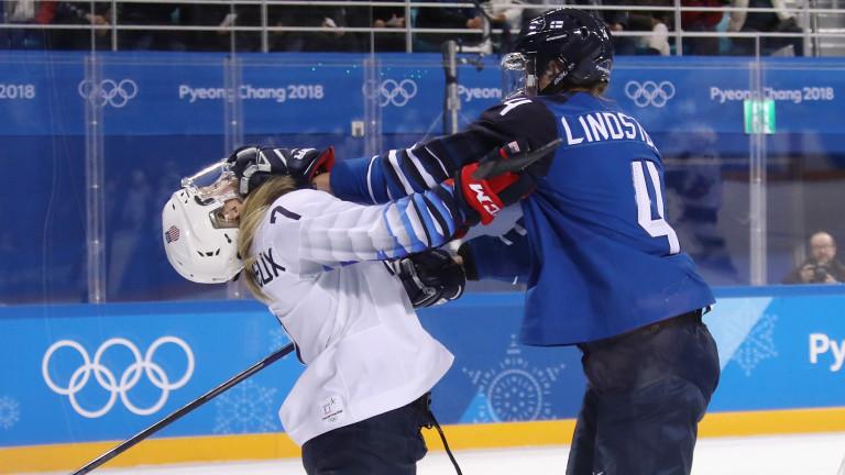 Американките тръгнаха силно в женския хокеен турнир