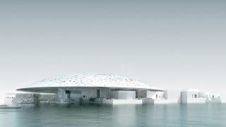 Лувърът в Абу Даби плава в морето  (ВИДЕО)