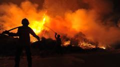 Прекратиха гасенето на пожара над Котел