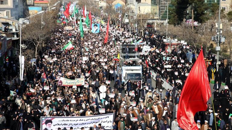 В Иран и днес се провеждат големи проправителствени демонстрации, след