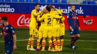 Барселона с минимален успех срещу Уеска в мач номер 500 на Меси