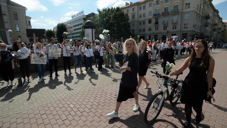 Кандидатът за президент на Беларус Светлана Тихановская, която не призна