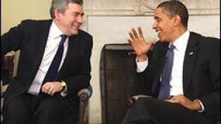 Барак Обама се срещна с Гордън Браун