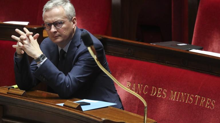 В момента икономиката на Франция работи на 25%, обяви финансовият