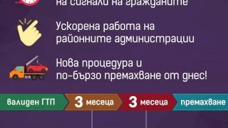 Опростяват процедурата за премахване на изоставените коли в София