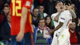 Испания - Англия 2:3 (Развой на срещата по минути)