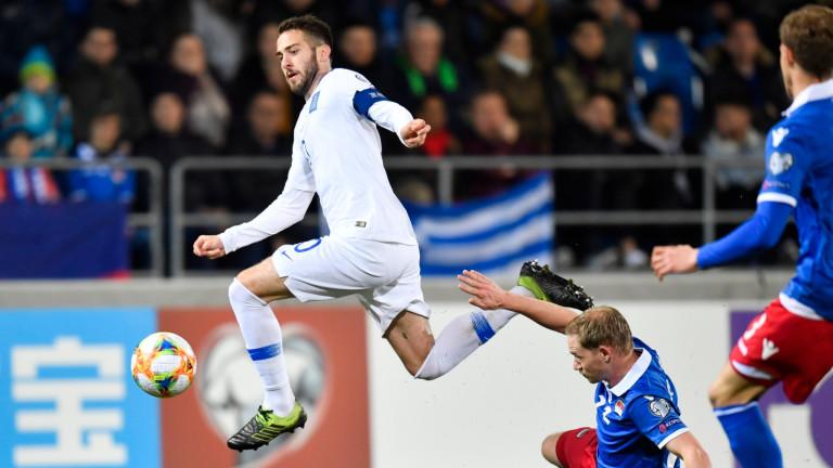 Гръцкият национален отбор се изравни с Италия на първото място