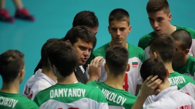 Снимка: Мартин Стоев е доволен от победата срещу Беларус на юношите до 17 години