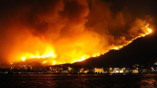 Горски пожари в Македония и Гърция
