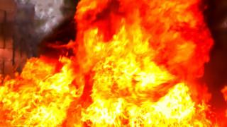 Пожар избухна в химически завод във Франция