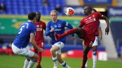 Евертън - Ливърпул 0:0 (Развой на срещата по минути)