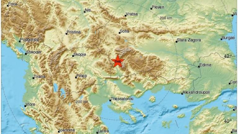 Слабо земетресение край Кресна