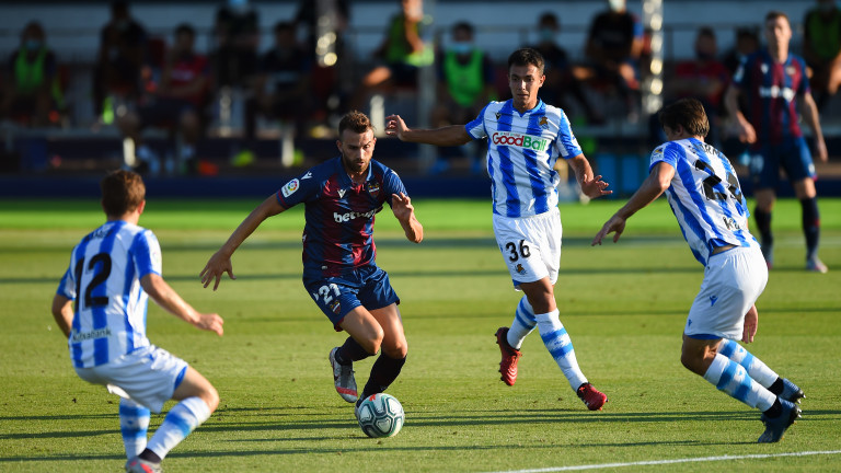 Леванте и Реал Сосиедад завършиха 1:1 в мач от 34-ия
