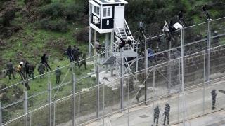 Испания залови над 50 мигранти на оградата по границата си с Мароко