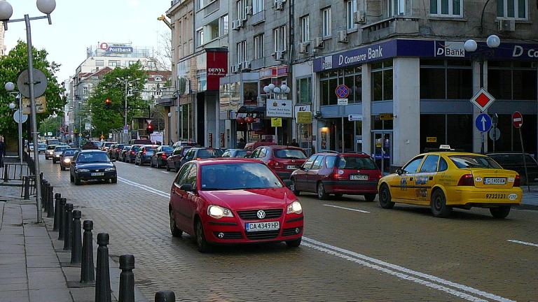 Снимка: Промени в движението в София за заснемане на рекламен клип