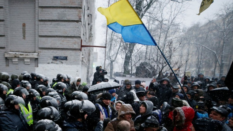 Привърженици на Саакашвили протестираха в Киев