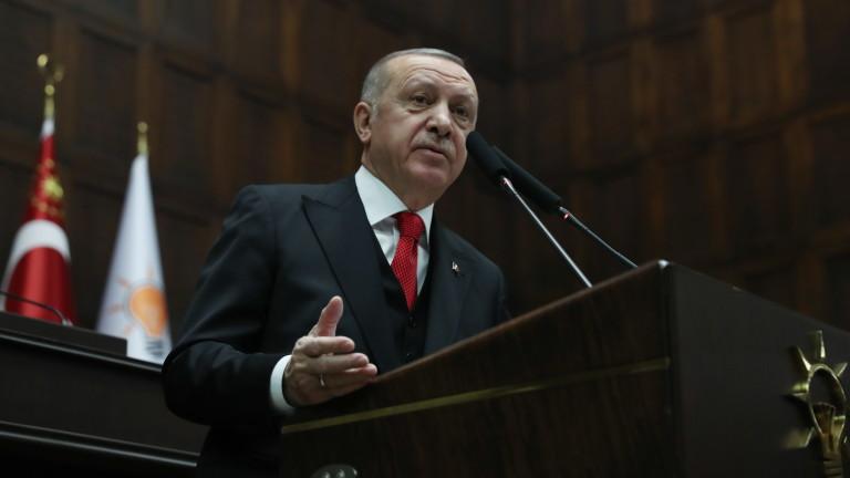 Президентът на Турция Реджеп Тайип Ердоган заяви, че мястото на