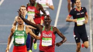 Уникалното бягане на Дейвид Рудиша в Лондон през 2012 година беше избрано за атлетически момент на десетилетието
