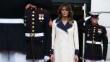 Защо Мелания Тръмп е с палто на 26 градуса