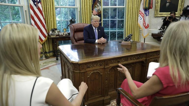 Президентът на САЩ Доналд Тръмп обяви, че не е говорил
